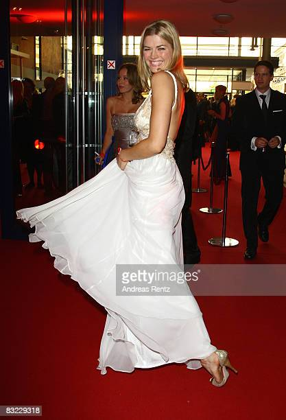 Nina Bott arrives for the German TV Award 2008 at the Coloneum on October 11 2008 in Cologne Germany