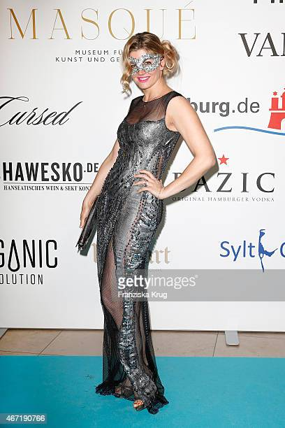 Nina Bott attends the Bal Masque 2015 on March 21 2015 in Hamburg Germany