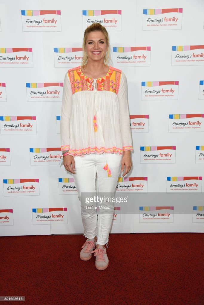 Nina Bott attends the Ernsting's Family Fashion Show at Stage Operettenhaus on June 26, 2017 in Hamburg, Germany.