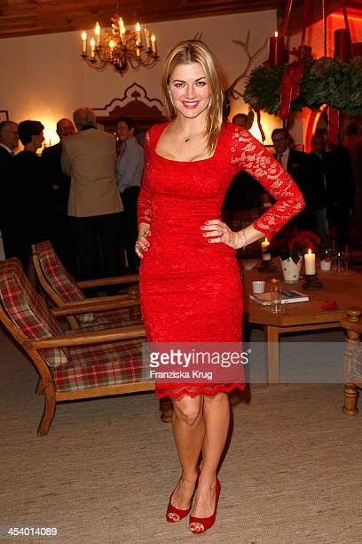 Nina Bott attends the Gala Dinner At Kuehtai Castle Tirol Cross Mountain 2013 on December 06 2013 in Innsbruck Austria