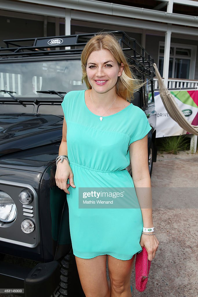 Nina Bott attends the Land Rover Public Chill 2014 at Beach Motel on August 3, 2014 in St Peter-Ording, Germany.