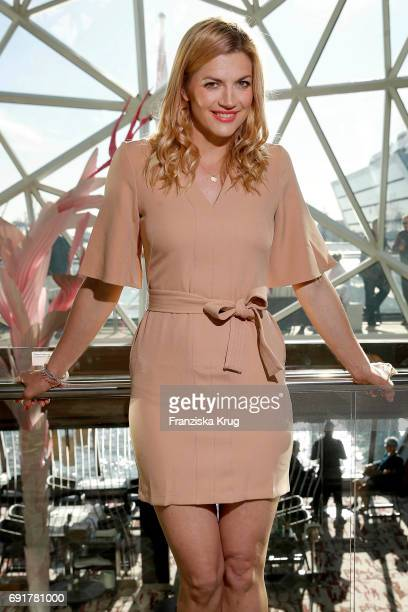 Nina Bott is seen during the naming ceremony of the cruise ship 'Mein Schiff 6' on June 1 2017 in Hamburg Germany