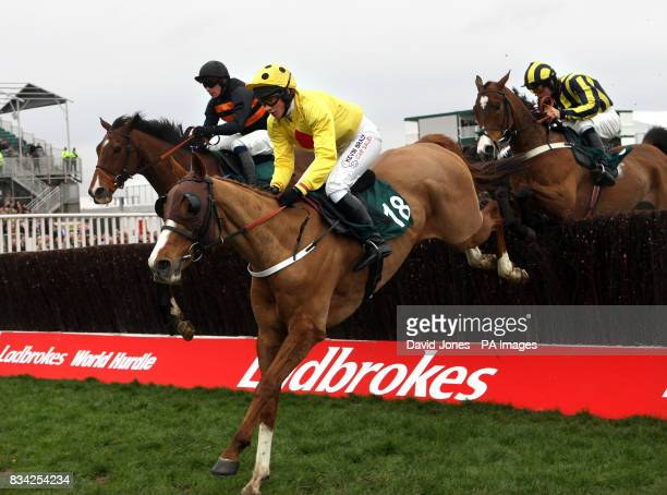 Nina Carberry on Oulart during the Peter O'Sullevan National Hunt Steeple Chase Challenge Cup during the Cheltenham Festival at Cheltenham Racecourse
