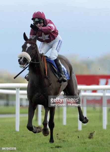 Nina Carberry rides Don Cossack to win the William Gladys Bourke Flat Race during the Easter Festival at Fairyhouse Racecourse Co Meath Ireland