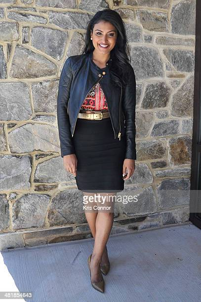 Nina Davuluri attends the grand opening of the USO Warrior and Family Center on April 1 2014 in Bethesda Maryland
