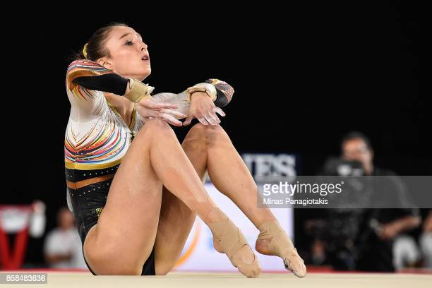 Nina Derwael of Belgium competes on the floor exercise during the women's individual allaround final of the Artistic Gymnastics World Championships...