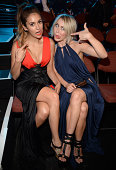 Nina Dobrev and Julianne Hough attend the 2014 MTV Video Music Awards at The Forum on August 24 2014 in Inglewood California