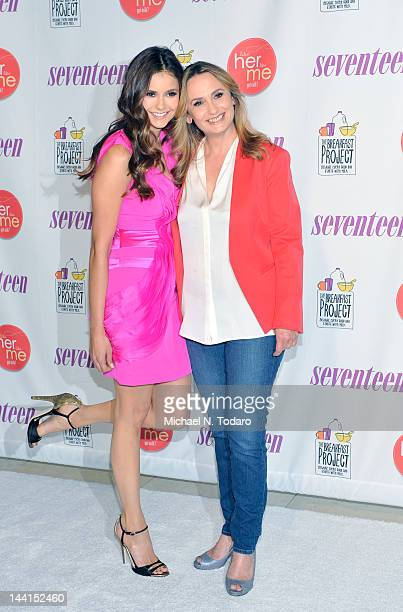 Nina Dobrev and Michaela Constantine attend the event where she launches 'like her like me' and searches for the next mother daughter Milk Mustache...