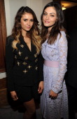 Nina Dobrev and Phoebe Tonkin attend The CW Network's 2014 Upfront at New York City Center on May 15 2014 in New York City