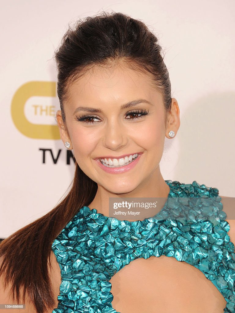 Nina Dobrev arrives at the 18th Annual Critics' Choice Movie Awards at The Barker Hanger on January 10, 2013 in Santa Monica, California.
