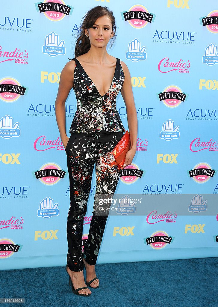 Nina Dobrev arrives at the 2013 Teen Choice Awards at Gibson Amphitheatre on August 11, 2013 in Universal City, California.