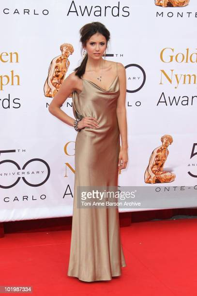 Nina Dobrev arrives at the Monte Carlo TV Festival Closing Ceremony at the Grimaldi Forum on June 10 2010 in MonteCarlo Monaco