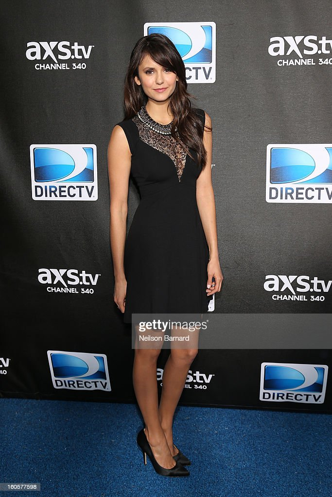 <a gi-track='captionPersonalityLinkClicked' href=/galleries/search?phrase=Nina+Dobrev&family=editorial&specificpeople=4397485 ng-click='$event.stopPropagation()'>Nina Dobrev</a> attends DIRECTV Super Saturday Night Featuring Special Guest Justin Timberlake & Co-Hosted By Mark Cuban's AXS TV on February 2, 2013 in New Orleans, Louisiana.