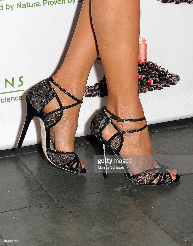 Nina Dobrev (shoe detail) attends Origins 'GinZing' Launch Event at Origins 5th Avenue on May 3, 2013 in New York City.