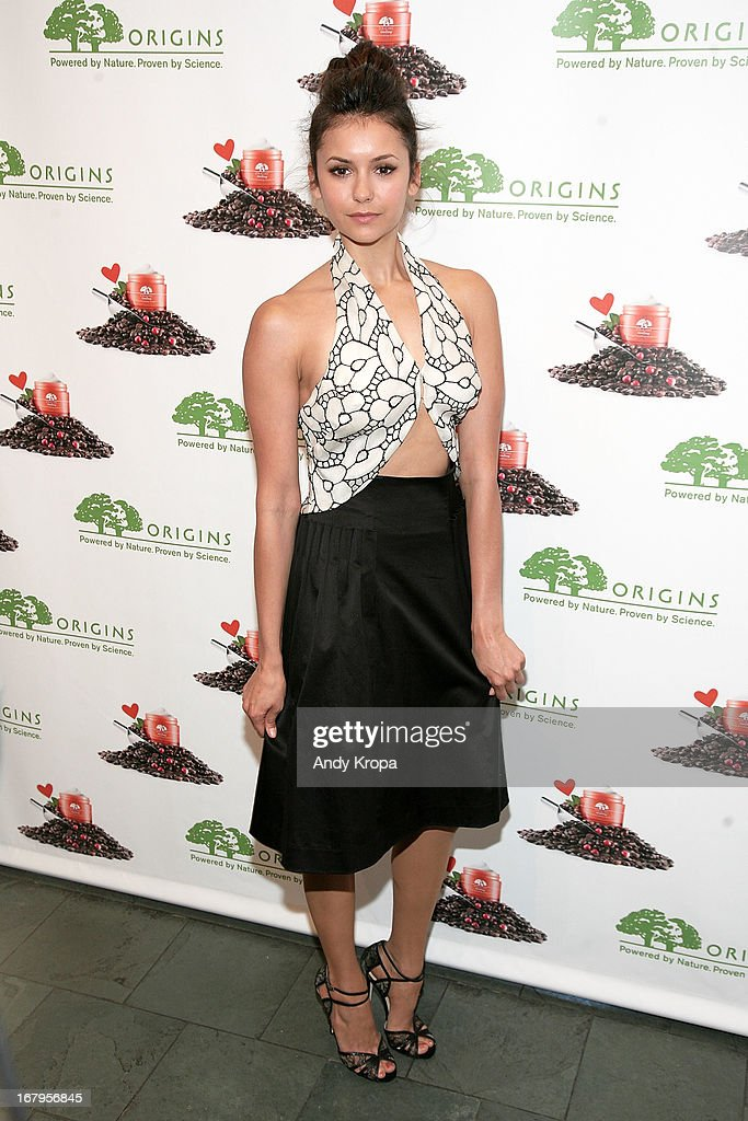 <a gi-track='captionPersonalityLinkClicked' href=/galleries/search?phrase=Nina+Dobrev&family=editorial&specificpeople=4397485 ng-click='$event.stopPropagation()'>Nina Dobrev</a> attends Origins 'GinZing' Launch Event at Origins 5th Avenue on May 3, 2013 in New York City.