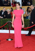 Nina Dobrev attends the 19th Annual Screen Actors Guild Awards at The Shrine Auditorium on January 27 2013 in Los Angeles California