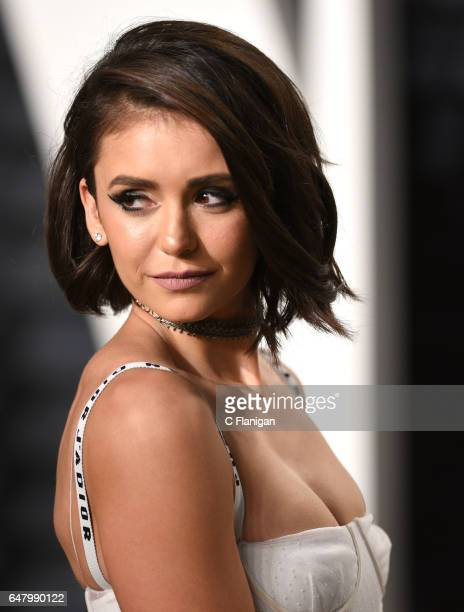 Nina Dobrev attends the 2017 Vanity Fair Oscar Party hosted by Graydon Carter at Wallis Annenberg Center for the Performing Arts on February 26 2017...