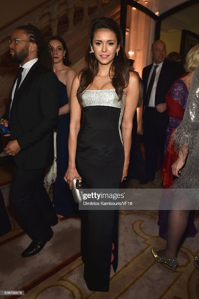 Nina Dobrev attends the Bloomberg & Vanity Fair cocktail reception following the 2015 WHCA Dinner at the residence of the French Ambassador on April 30, 2016 in Washington, DC.
