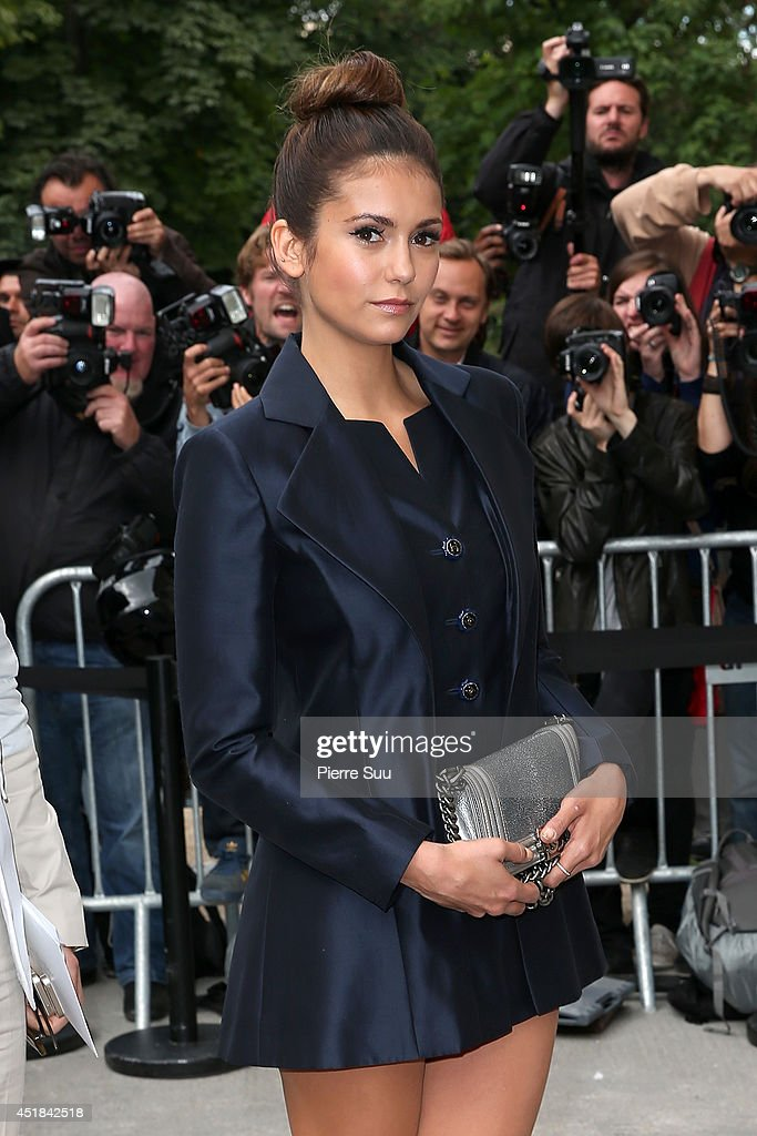 <a gi-track='captionPersonalityLinkClicked' href=/galleries/search?phrase=Nina+Dobrev&family=editorial&specificpeople=4397485 ng-click='$event.stopPropagation()'>Nina Dobrev</a> attends the Chanel show as part of Paris Fashion Week - Haute Couture Fall/Winter 2014-2015 at Grand Palais on July 8, 2014 in Paris, France.