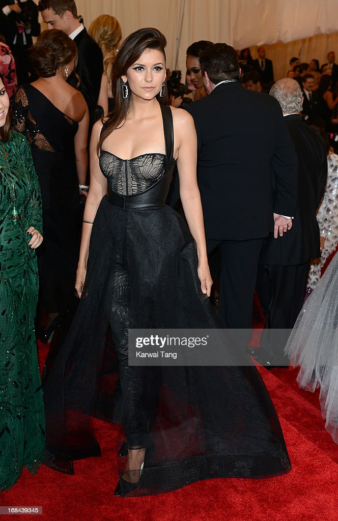 Nina Dobrev attends the Costume Institute Gala for the 'PUNK: Chaos to Couture' exhibition at the Metropolitan Museum of Art on May 6, 2013 in New York City.