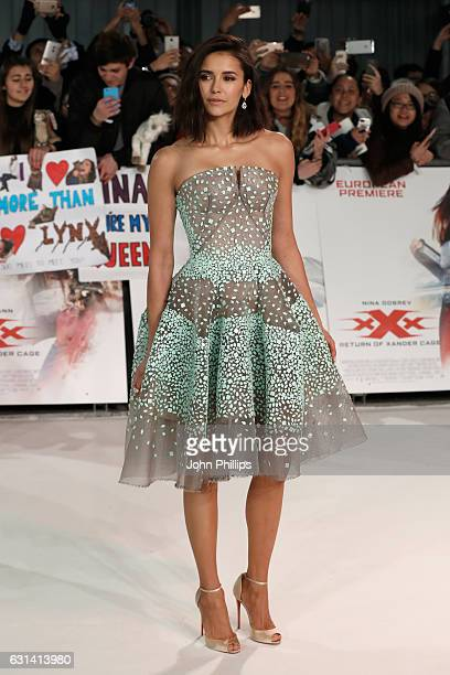 Nina Dobrev attends the European premiere of 'xXx' Return of Xander Cage' at Cineworld 02 Arena on January 10 2017 in London United Kingdom