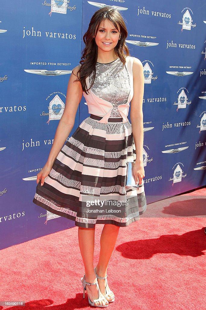 Nina Dobrev attends the John Varvatos 10th Annual Stuart House Benefit at John Varvatos Los Angeles on March 10, 2013 in Los Angeles, California.