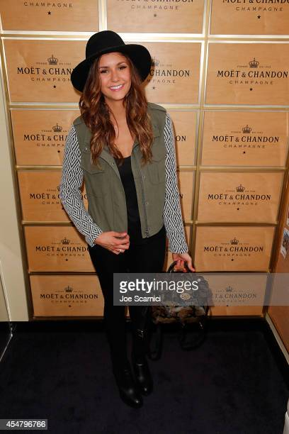 Nina Dobrev attends the Moet Chandon Suite at The 2014 US Open at USTA Billie Jean King National Tennis Center on September 6 2014 in New York City