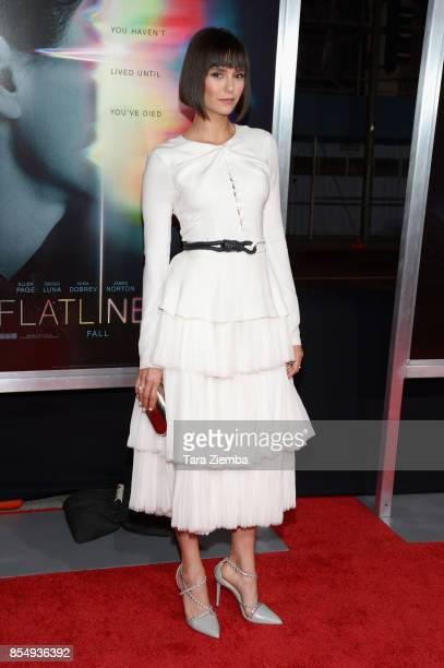 Nina Dobrev attends the premiere Of Columbia Pictures' 'Flatliners' at The Theatre at Ace Hotel on September 27 2017 in Los Angeles California