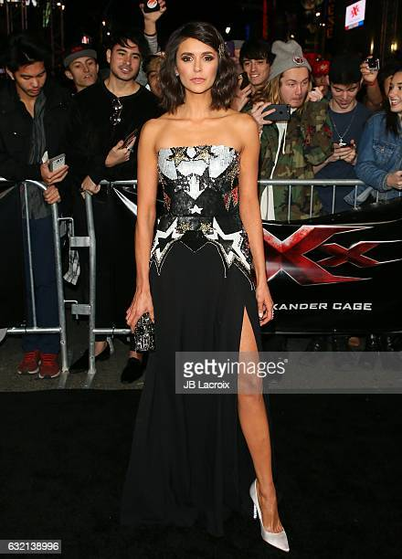 Nina Dobrev attends the premiere of Paramount Pictures' 'xXx Return Of Xander Cage' on January 19 2017 in Los Angeles California