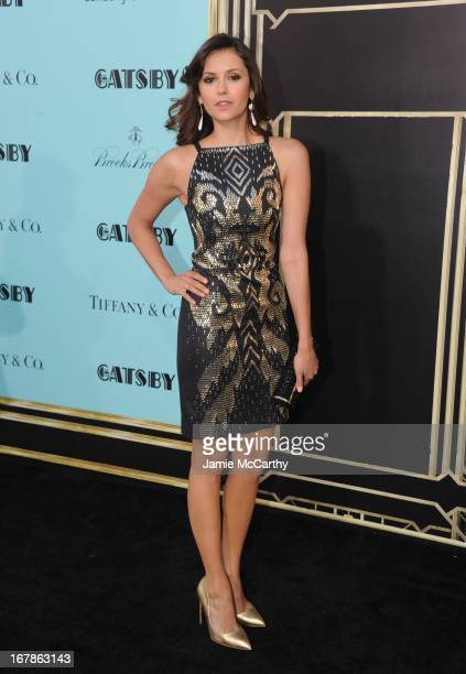 Nina Dobrev attends the 'The Great Gatsby' world premiere at Avery Fisher Hall at Lincoln Center for the Performing Arts on May 1 2013 in New York...
