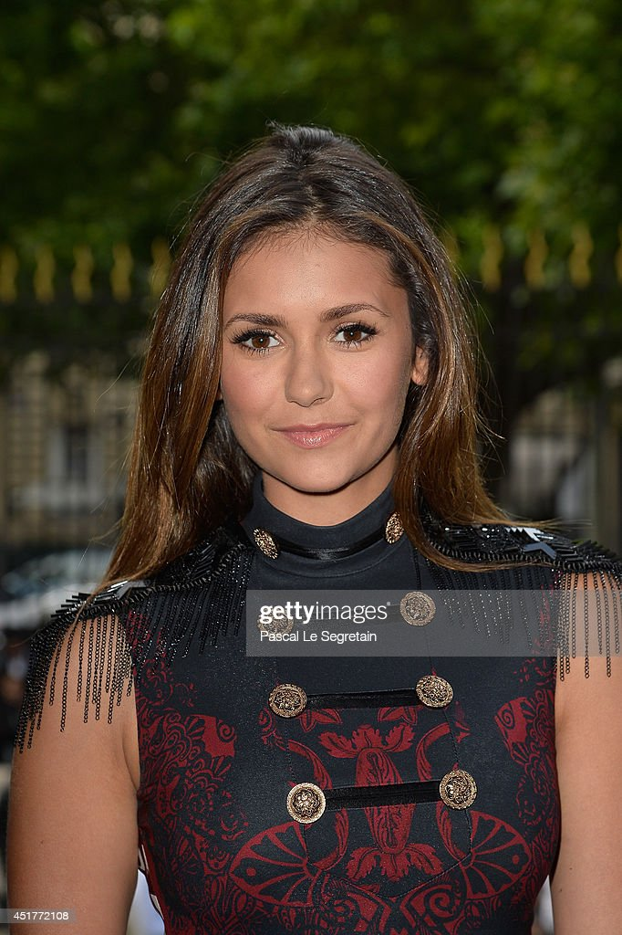 Nina Dobrev attends the Versace show as part of Paris Fashion Week - Haute Couture Fall/Winter 2014-2015 on July 6, 2014 in Paris, France.