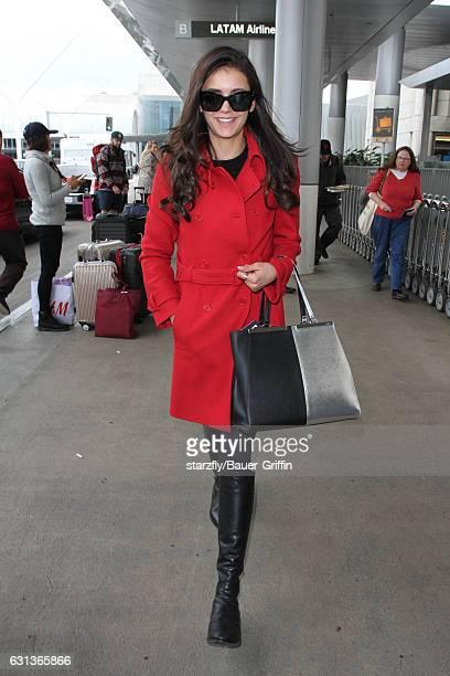 Nina Dobrev is seen at LAX on January 09 2017 in Los Angeles California