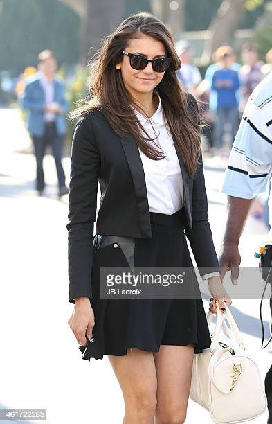 Nina Dobrev is seen on January 10 2014 in Los Angeles California