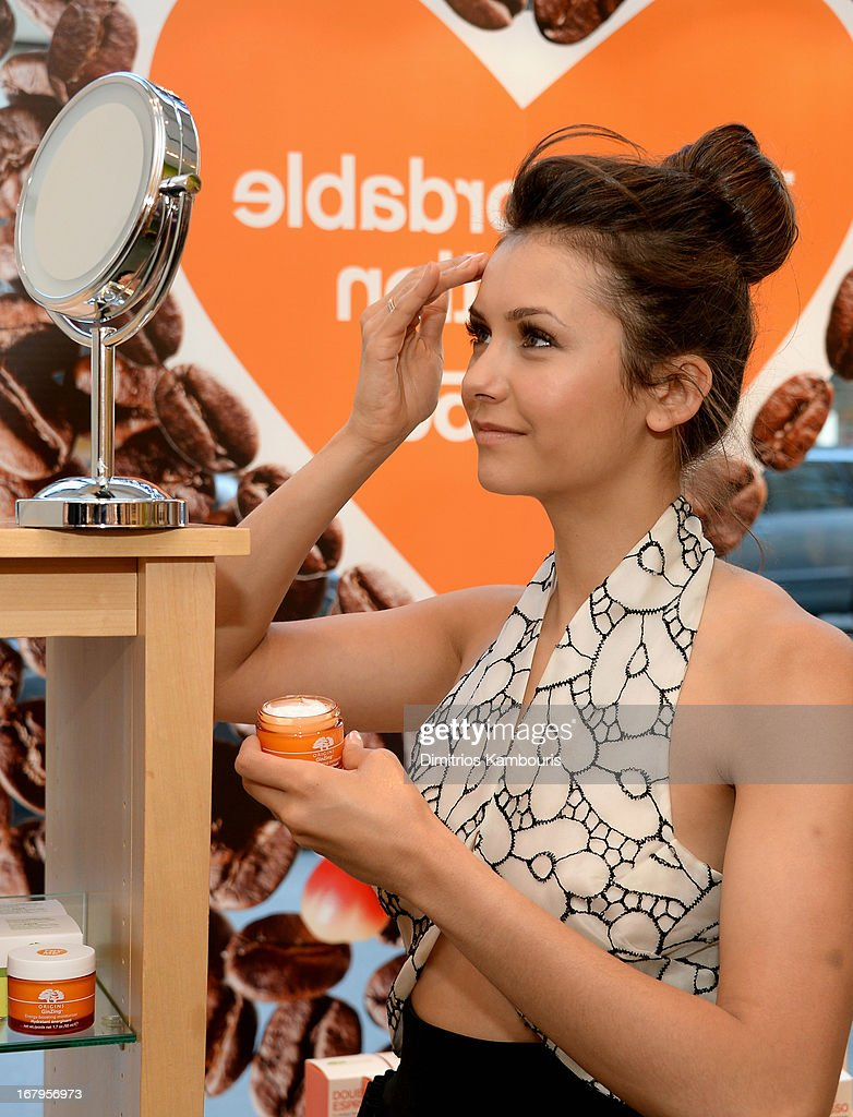 Nina Dobrev launches the new Origins GinZing Energy-Boosting Moisturizer on May 3, 2013 in New York City.