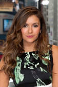 Nina Dobrev visits 'Extra' at their New York studios at HM in Times Square on August 4 2014 in New York City