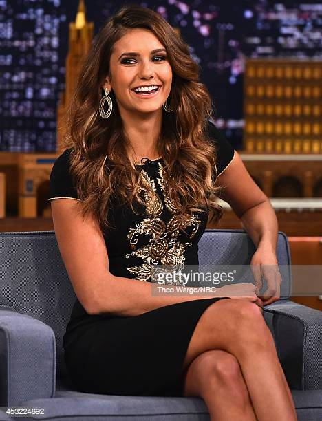 Nina Dobrev Visits 'The Tonight Show Starring Jimmy Fallon' at Rockefeller Center on August 5 2014 in New York City