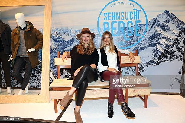 Nina Eichinger and Cathy Hummels during the KONEN fall/winter season opening on August 31 2016 in Munich Germany