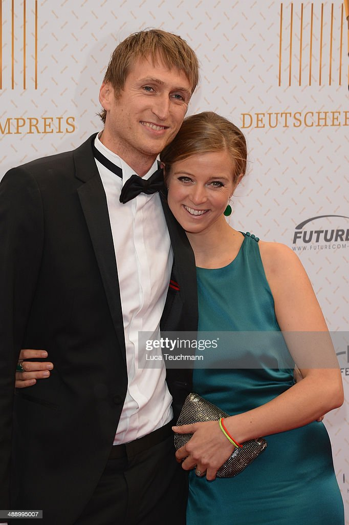 Nina Eichinger and Fritz Meinikat attend the Lola - German Film Award 2014 at Tempodrom on May 9, 2014 in Berlin, Germany.