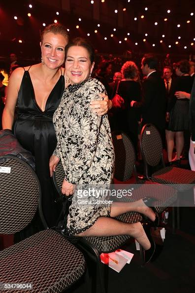 Nina Eichinger and Hannelore Elsner during the Lola German Film Award 2016 after show party at Palais am Funkturm on May 27 2016 in Berlin Germany