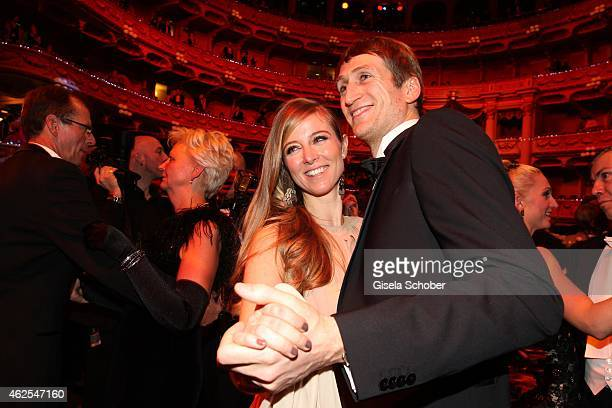 Nina Eichinger and her boyfriend Fritz Meinikat during the Semper Opera Ball 2015 at Semperoper on January 30 2015 in Dresden Germany