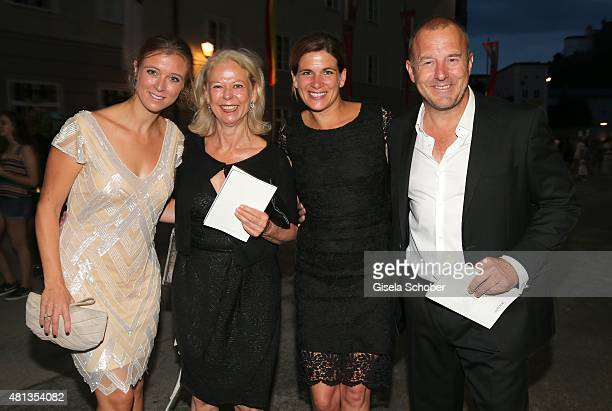 Nina Eichinger and her mother Sabine Eichinger Marie Jeanette Ferch and her husband Heino Ferch attend the premiere of 'Jedermann' during the...