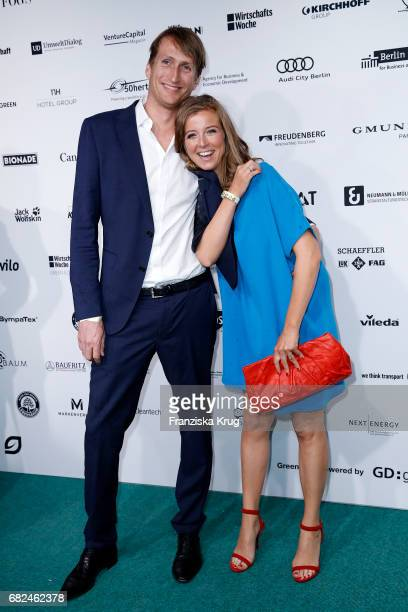 Nina Eichinger and her partner Fritz Meinikat during the GreenTec Awards at ewerk on May 12 2017 in Berlin Germany