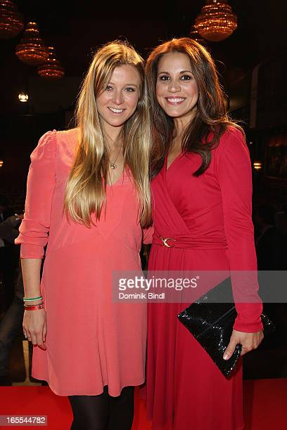 Nina Eichinger and Karen Webb attend the CNN Journalist Award 2013 at the Künstlerhaus at Lenbachplatz on April 4 2013 in Munich Germany