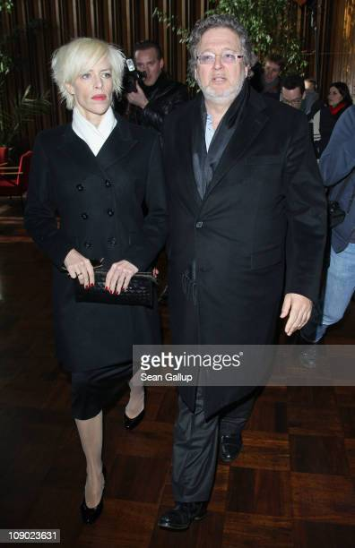 Nina Eichinger and Martin Moszkowicz attend the Bernd Eichinger Memorial Screening during day three of the 61st Berlin International Film Festival at...