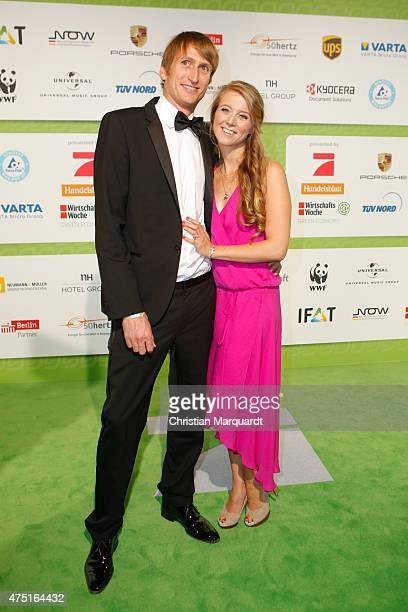 Nina Eichinger and partner Fritz Meinkat attends the GreenTec Awards 2015 at Tempodrom on May 29 2015 in Berlin Germany