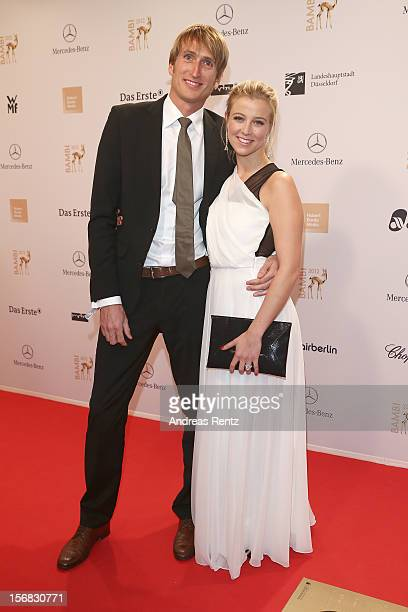 Nina Eichinger and partnerFritz Meinikat attend 'BAMBI Awards 2012' at the Stadthalle Duesseldorf on November 22 2012 in Duesseldorf Germany