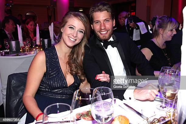 Nina Eichinger and Raul Richter during the Audi Generation Award 2014 at Hotel Bayerischer Hof on December 3 2014 in Munich Germany