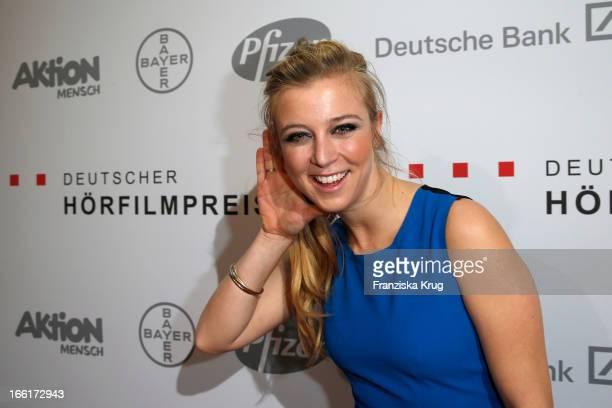 Nina Eichinger attends the '11th Deutscher Hoerfilmpreis' at the Atrium Deutsche Bank on April 9 2013 in Berlin Germany
