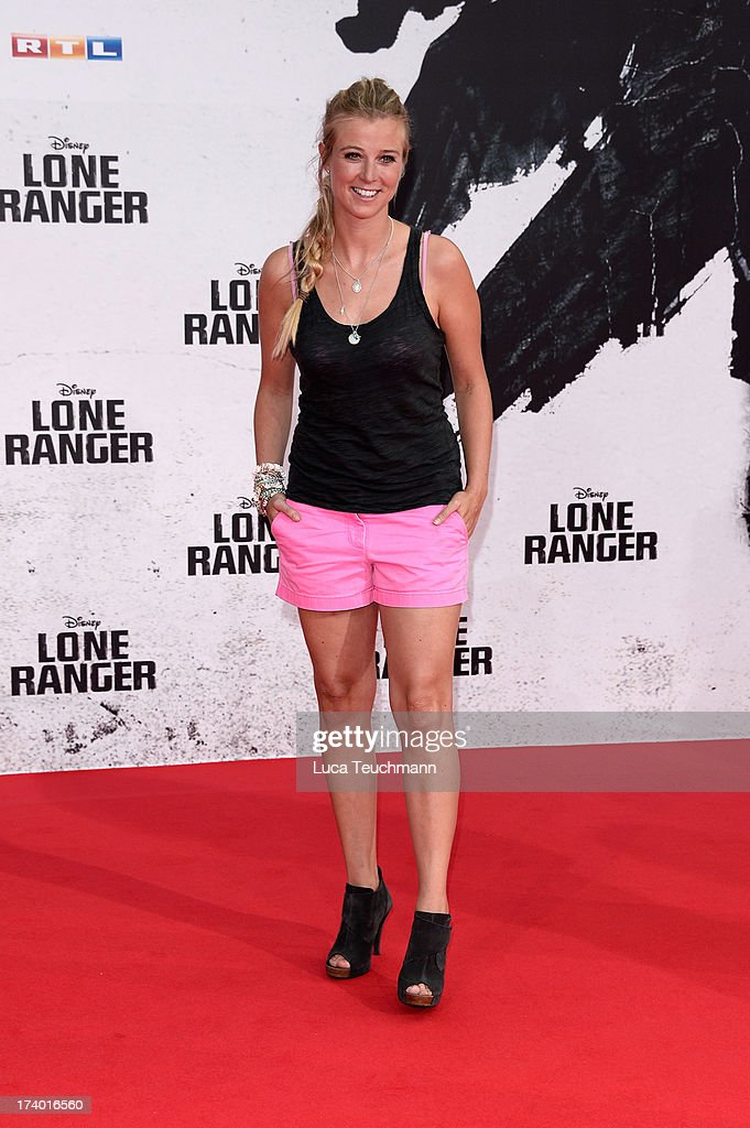 Nina Eichinger attends the premiere of 'Lone Ranger' at Sony Centre on July 19, 2013 in Berlin, Germany.