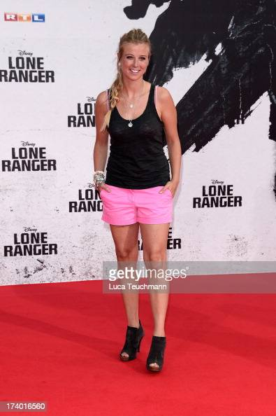 Nina Eichinger attends the premiere of 'Lone Ranger' at Sony Centre on July 19 2013 in Berlin Germany